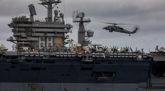 Seahawk Soars with Nimitz Carrier Strike Group