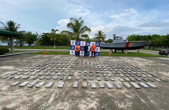 Colombian Navy Has Intercepted 247 tons of Cocaine This Year