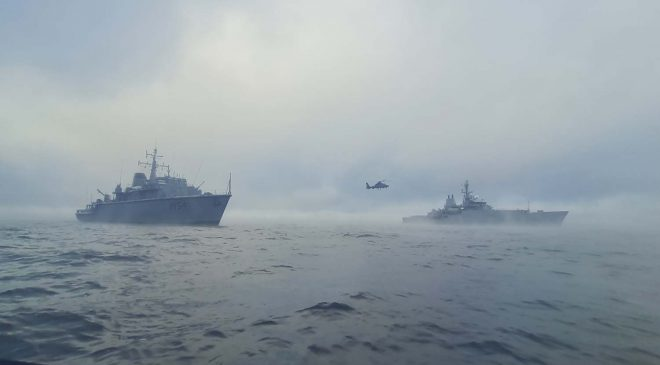 HMS Echo Assists Lithuanian Navy in Baltic Sea