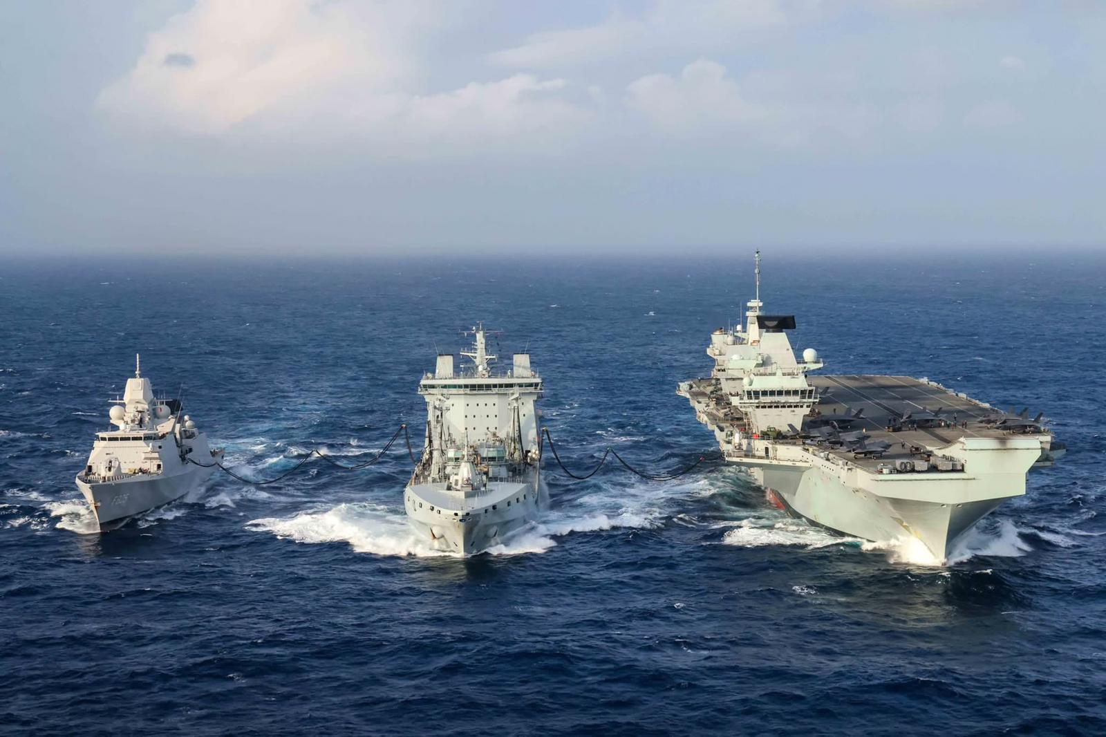 UK & USA Led Carrier Strike Group • Show of Strength • Philippine Sea, Oct 2021